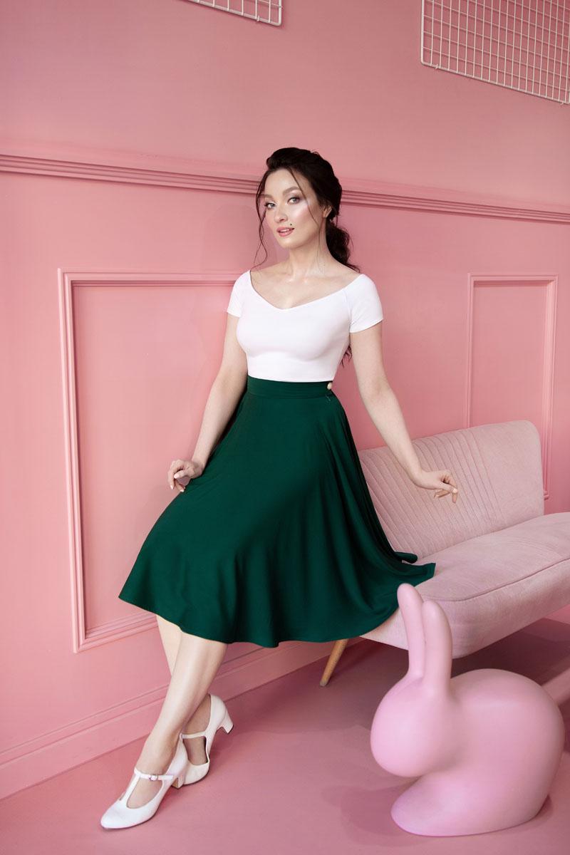 zielona spódnica